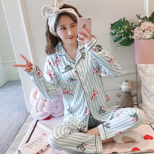 Image 3 - Maternity Pajamas 2019 new Spring Long Sleeve Breastfeeding Sleepwear Cotton Nursing Clothes For Pregnant Women Outerwear