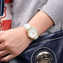 Cadisen Señoras Perla Diseñador Dial Reloj de La Muchacha de La Pu de Cuero de Ginebra Reloj de Las Mujeres Vestido Reloj de La Manera Impermeable Relojes Mujer