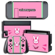 Vinyle autocollant protecteur de peau pour Dverwatch pour Nintendo Switch NS Console + contrôleur + support peaux