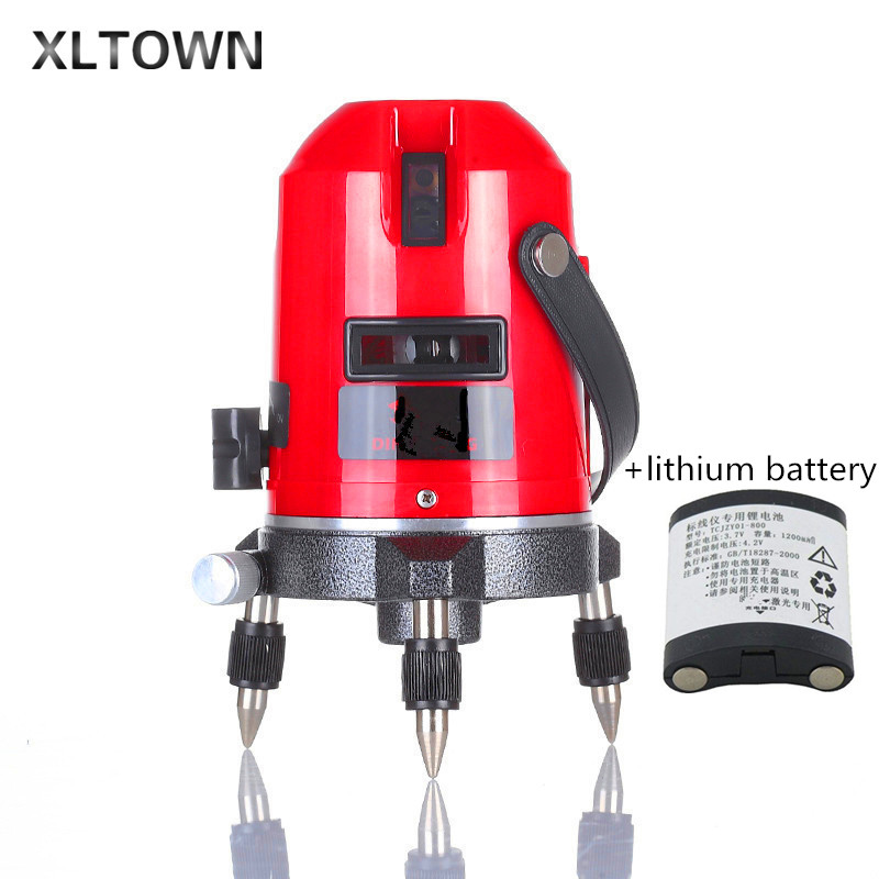 Xltown new 5Lines 6points Outdoor Laser Level Self-Leveling 360 rotary Cross Line Lazer Level Tool slash function tripod level 16 colors x vented outdoor playing quad line stunt kite 4 lines beach flying sport kite with 25m line 2pcs handles