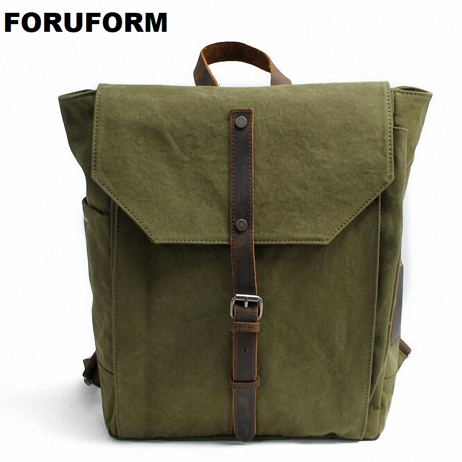 Vintage Women Canvas Backpacks For Teenage Girls School Bags Large High Quality Mochilas Escolares Fashion Men Backpack LI-1679 jmd vintage women backpack for teenage girls school bags fashion large backpacks high quality genuine leather travel laptop bag
