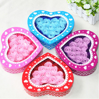 26pcs/lot  romantic roses soap flower gift valentine's day gifts creative birthday gift Christmas gifts