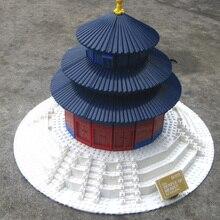Livraison Gratuite WanGe 8020 1052 PCS Grand BRICOLAGE briques blocs ensembles de blocs de construction enfants jouets éducatifs Temple du Ciel à Beijing