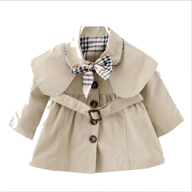Children Clothing Jackets For Baby Girls Autumn Lapel Long-sleeved Cotton Coat Girl Kids Clothes Outerwear 2017 New Spring