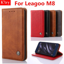 Case For Leagoo M8 5.7 inch Book Flip Protective Leather Wallet Cover Case For Leagoo M8 Stand Flip Bag Skin Fundas