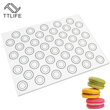 TTLIFE Baking DIY Large Size 40*30CM Pat Heat Insulation Non Stick Silicone Mat Oven Dough Pad Bakeware Kid Table