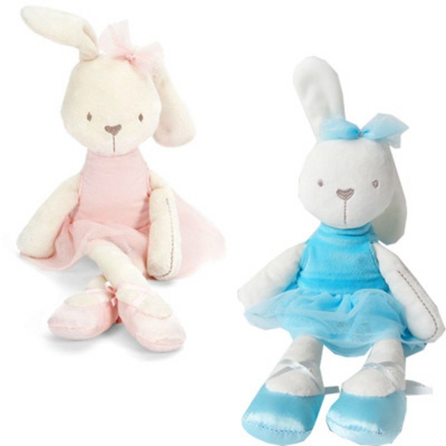 6e0ad4295a0a Baby Cute Pink /Blue Rabbit Doll Soft Stuffed Animal Plush Toy Children  Birthday Gifts Christmas Gifts Free Shipping