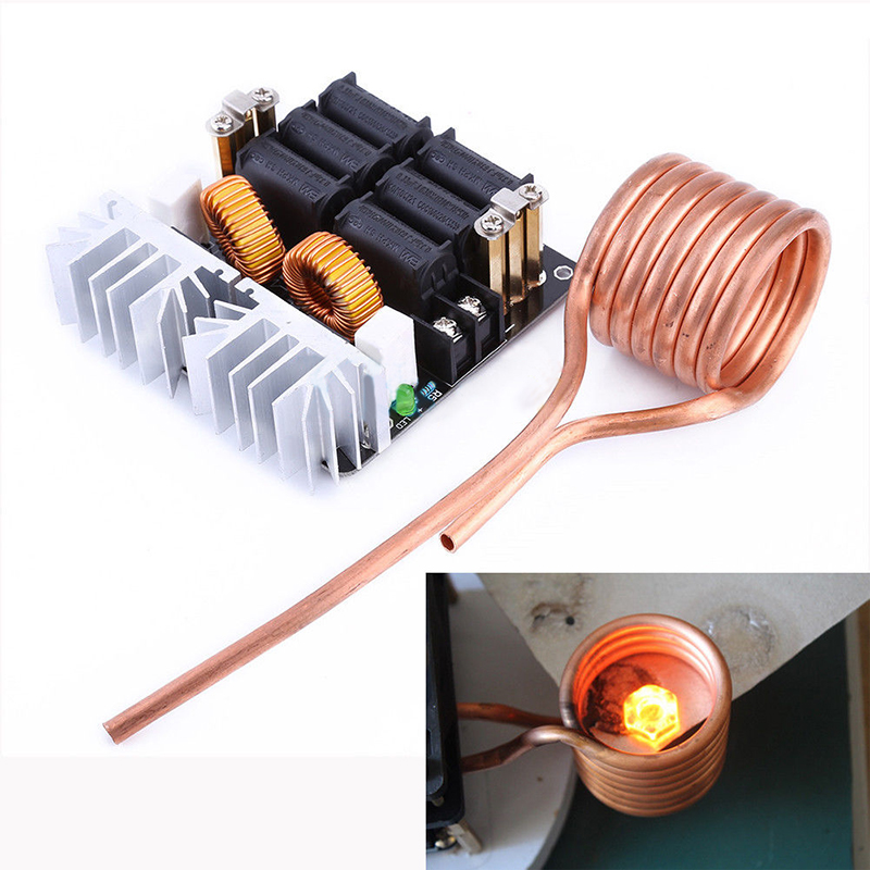 DWZ 1000W ZVS Low Voltage Induction Heating Heater DIY Board Module with Tesla Coil dc12 36v 20a 1000w zvs induction heating module heater with cooling fan copper tube