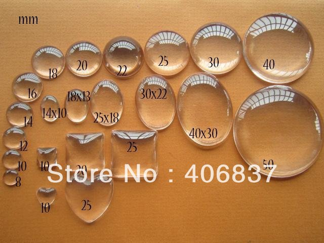 100pcs/lot, Good Quality 16mm Domed Round Transparent Clear Magnifying Glass Cabochon