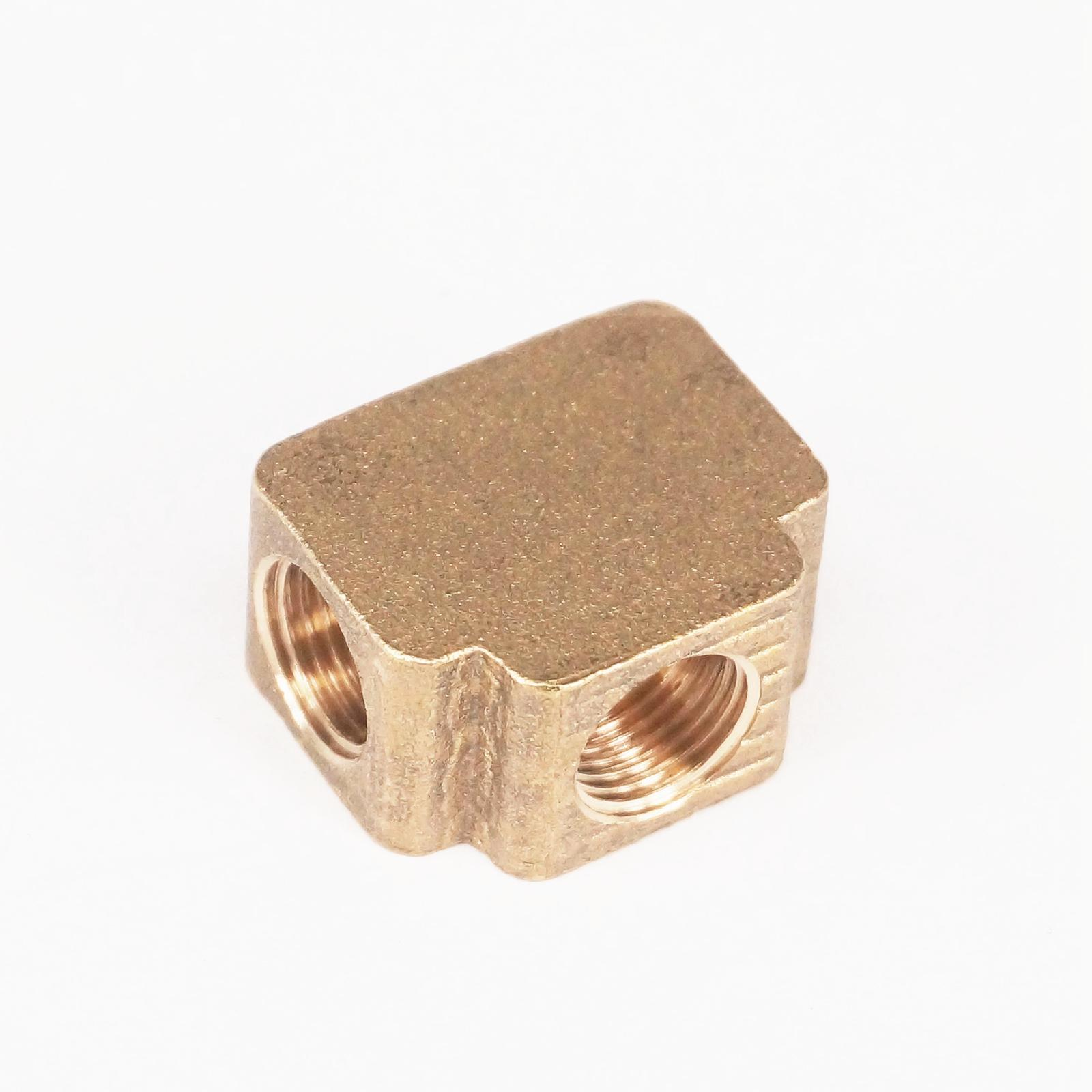 Tee 3 Ways Brass Pipe fittings Equal Female Connector 1/8 BSP Thread For Grease System hydraulic system