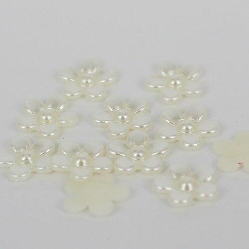 500 шт Плоские бусины полужемчуг имитация жемчуга жемчужные бусины в форме цветка идеально подходит для дизайна ногтей мобильного телефона DIY