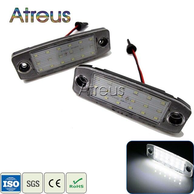 2pcs Car Led License Plate Lights 12v Smd3528 Led Number