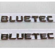 Chrome Letters BLUETEC Rear Trunk Lid Lip Badges Emblems Emblem Badge Sticker for Mercedes Benz AMG