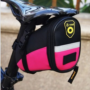 2016 New B-SOUL Outdoor Cycling Mountain <font><b>Bike</b></font> Bicycle Saddle <font><b>Bag</b></font> <font><b>Back</b></font> <font><b>Seat</b></font> Tail Pouch Package Black/Green/Blue/Red/Pink/Sky Blue image