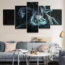 5 Panel Game Bloodborne Girls Role Canvas Prints Painting Wall Art Frame Decor Pictures For Modern Living Room Modular Poster