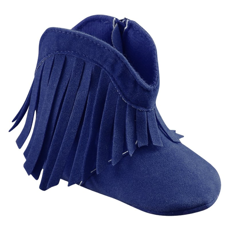 eddf738bce34 Dropwow Newborn Baby Girl Kids Moccasin Moccs Solid Fringe Shoes ...