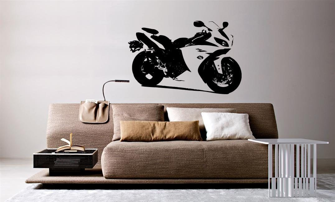 D367 Wall Mural Vinyl Decal Sticker Motorcycle Bike Sport Racing Crotch Rocket