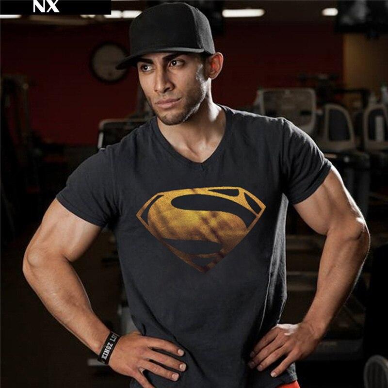 Hot Sale Superman Tryckta T-shirts Men-Kompression T-shirts Slim Fit - Herrkläder - Foto 3