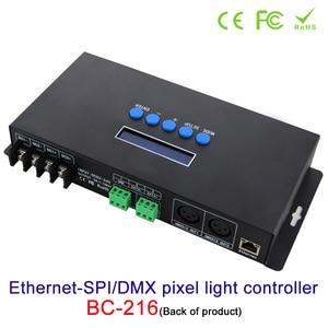 Image 2 - جديد Artnet إيثرنت إلى SPI/DMX بكسل مصباح ليد تحكم BC 216 DC5V 24V 3Ax16CH دعم Artnet/Artnet و sACN E.1.31 بروتوكول