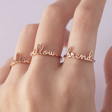 Custom Name Ring Optional Size Stainless Steel Silver Rose Gold Personalized Wedding Rings For Women Men Handmade Jewelry Gifts