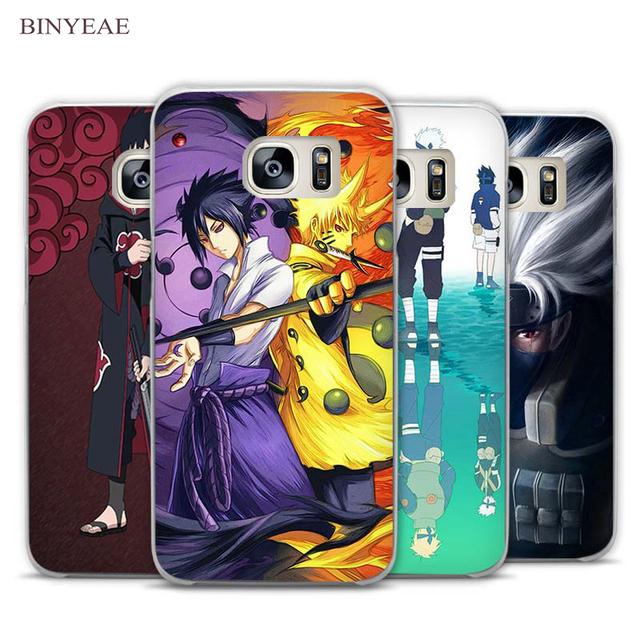 Sasuke Naruto Clear Phone Case Cover for Samsung Galaxy Note 2 3 4 5 7 S3 S4 S5 Mini S6 S7 S8 Edge Plus