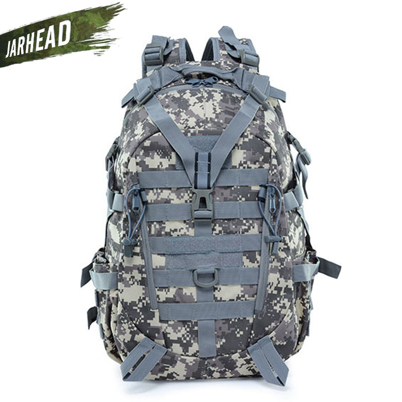 New Molle Camo Tactical Backpack Military Army Mochila Waterproof Hiking Hunting Backpack Tourist Rucksack Outdoor Sport Bag