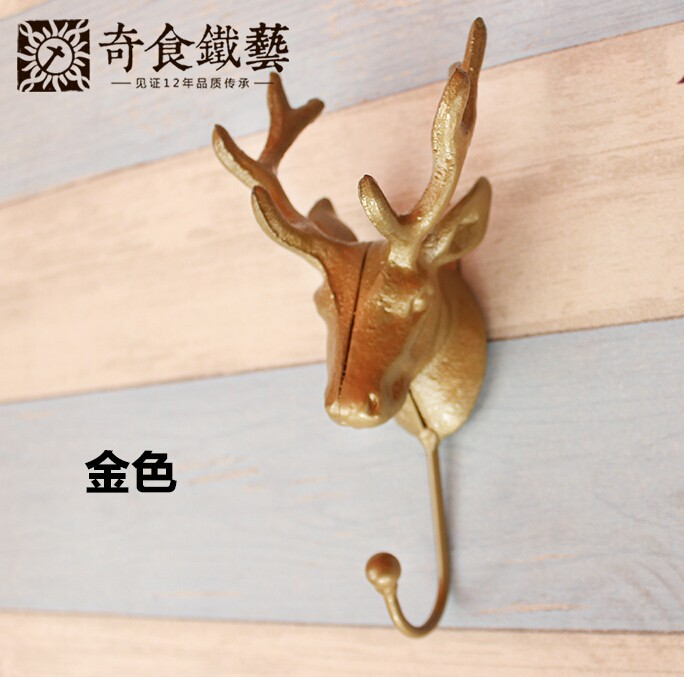 Deer clothing hooks on the wall hook iron single hook coat hooks vintage hook
