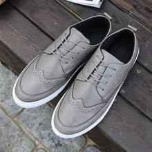 New British Style Men's Flats Fashion Striped Breathable Lace-Up Casual Zapato Flat Shoes Casual Men Shoes Free Shipping