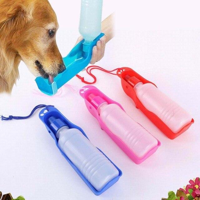 Portátil de gato del perro de animal doméstico de la botella de alimentación de agua potable a los perros al aire libre de viaje