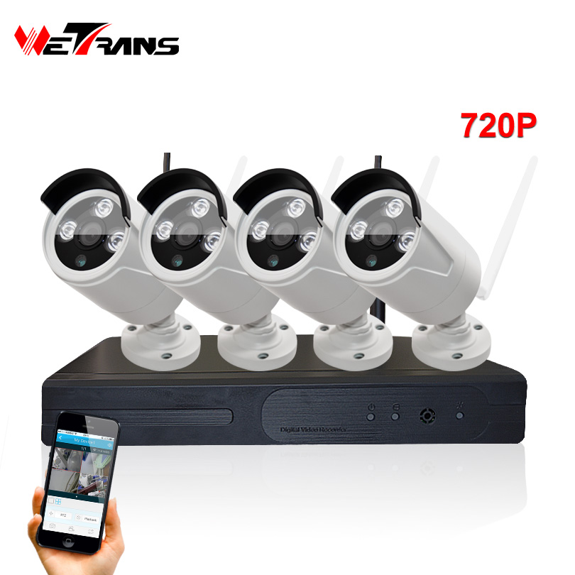 047cd05be0e Video Surveillance System Wifi Camera Kit Plug Play P2P HD 720P 20m Night  Vision 4CH Home Wireless CCTV Systems With Recorder