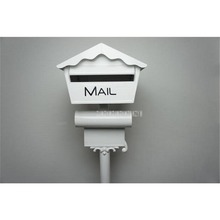 Mordern Security Metal Stand Mailbox Postbox Metal Outdoor Letterbox Garden Park Secure Mail box Letter Box Height 128cm 1023b