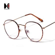 SHAUNA Classic Women Round Eyeglasses Frame Ultralight Floral Metal Glasses