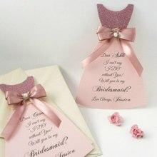 На заказ, свадебное платье подружки невесты, открытки для подружки невесты, подарки на вечеринку