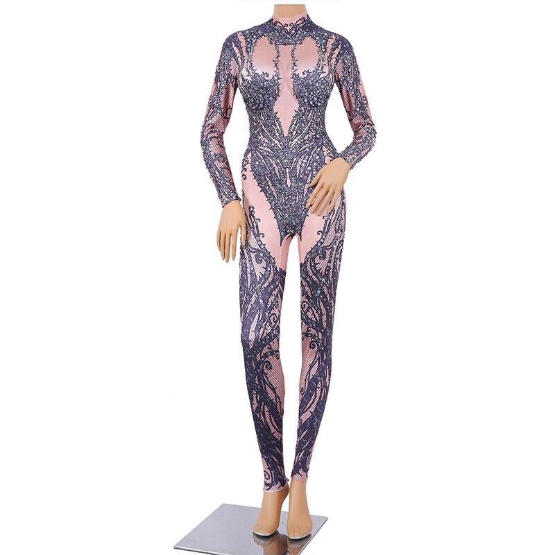Bella Justaucorps Chanteur Costumes Body Noir Discothèque Partie Cristal Tenues Performance Salopette De Scène Femmes Sexy Christia Danseur dw8Aqvv