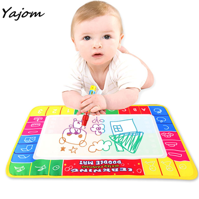 2017 29X19cm Children baby toy Water Drawing Painting Writing Mat Board Magic Pen Doodle Toy Gift