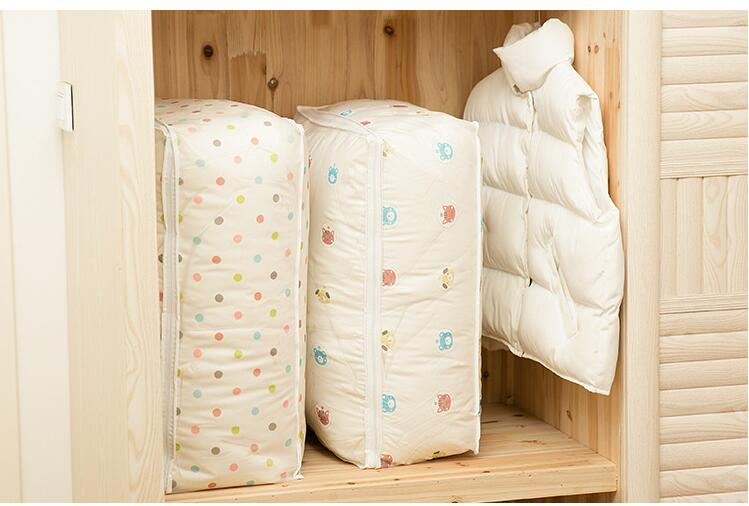 Quilts Storage Bags Home Storage Organization Waterproof Dustproof School Bags For Students + Size PEVA Bags Quilt Storage Bag