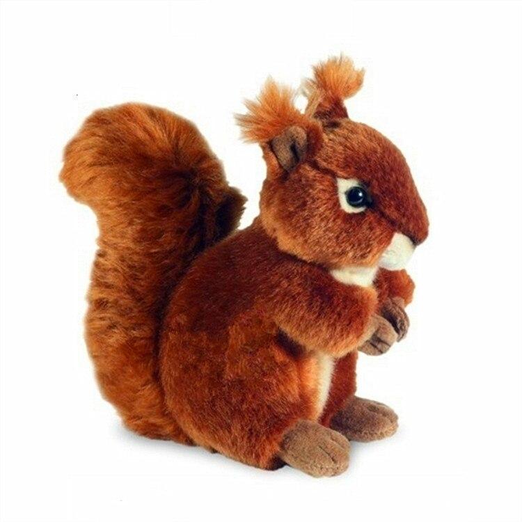 6 15cm Simulation Red Squirrel Sciurus vulgaris soft toy stuffed animal plush toy children gift cute soft simulation toucan bird toy plush blacktoucan toy gift about 25cm