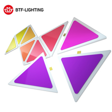 Умные светодиодные панели 9 шт. многоцветная треугольная панель Bluetooth Android/IOS приложение Музыка Управление комплект для комнаты/вечерние/настенное освещение