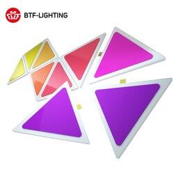 Paneles de luz LED inteligentes 9 Uds Multicolor triángulo Panel Bluetooth Android/aplicación iOS música Control Kit para habitación/fiesta/Iluminación de pared