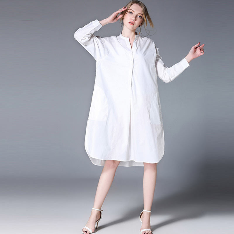 plus size women clothing womens tops and blouses loose long sleeve Cotton shirts oversize 2018 spring new XL to 4XL