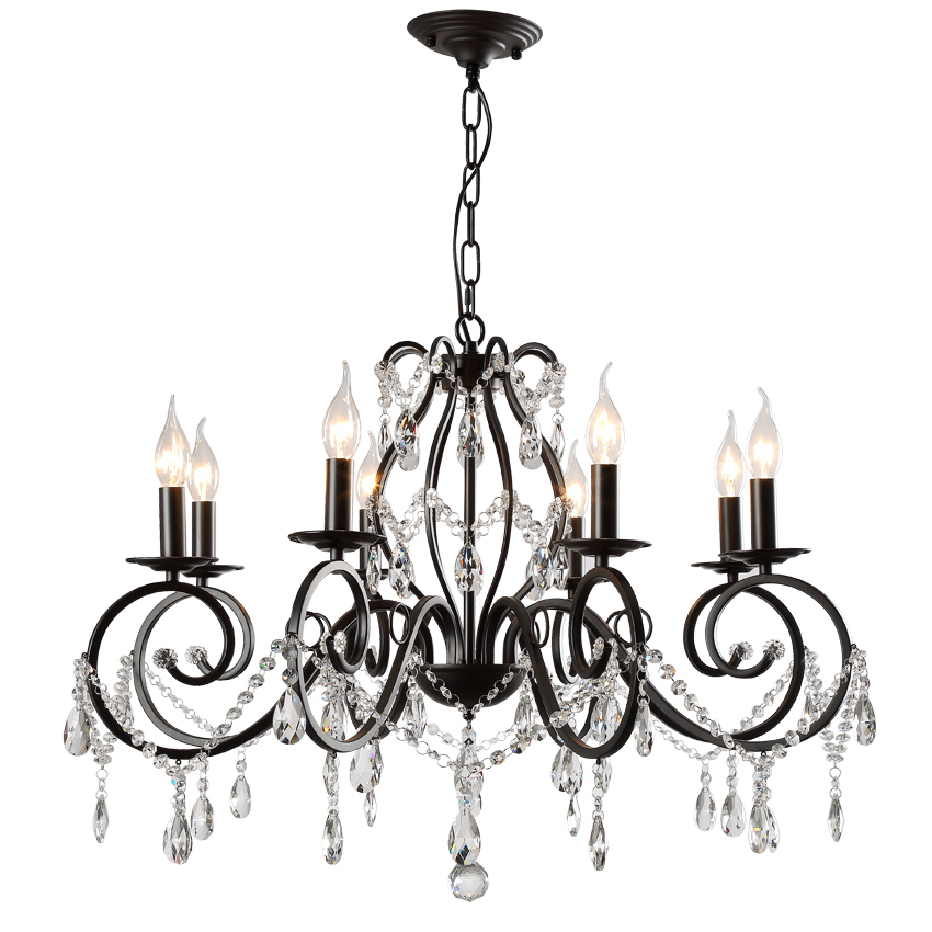 US $169.15 15% OFF|Contemporary Chandelier Lamp Dining Room Chandelier  Black industrial chandeliers Crystal Lighting Kitchen Novelty Light  Fixtures-in ...