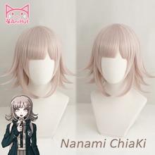 【AniHut】NANAMI CHIAKI วิกผม Super Danganronpa คอสเพลย์วิกผมอะนิเมะคอสเพลย์ผมสังเคราะห์ทนความร้อนผมผู้หญิง