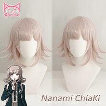 AniHut NANAMI CHIAKI Wig Super Danganronpa Cosplay Anime Hair Synthetic Heat Resistant Women