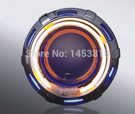 En vente 2 inch 13B moto HID Double Ray Bi projecteur lentille rouge jaune bleu vert blanc 8000 k 6000 k 4300 K H4 universel