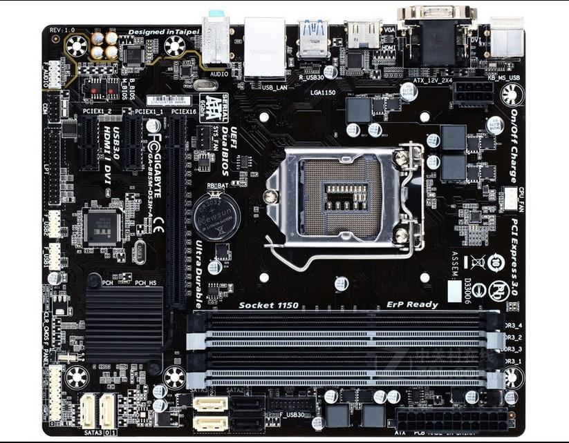 D'origine carte mère pour Gigabyte GA-B85M-DS3H-A LGA 1150 DDR3 B85M-DS3H-A 32 GB USB3.0 B85 Bureau carte mère Livraison gratuite