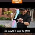 Free shipping latest magic Silk Thru Phone Close-up magic Stage magic Mentalism Magic tricks