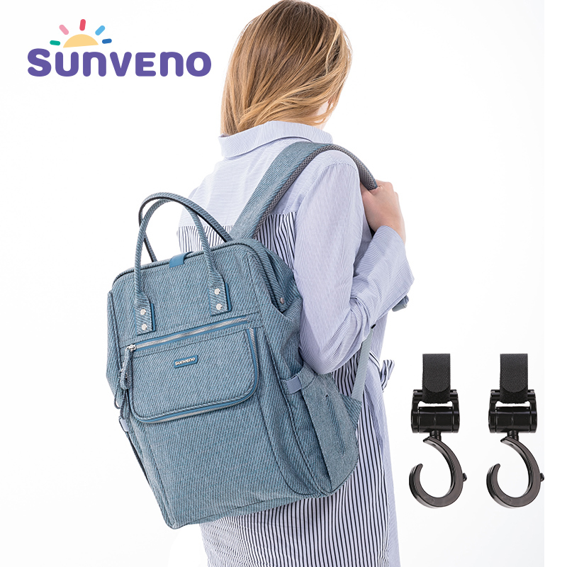 купить SUNVENO Diaper Bag Backpack Waterproof Nappy Bag Large Capacity Kits Mummy Maternity Travel Backpack Nursing Handbag недорого