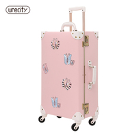 2018 NEW travel luggage bag brand suitcase leather digital luggage scale butterfly brand children suitcase spinner free shipping