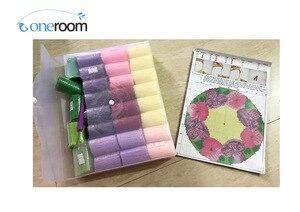 Image 5 - Kit crochet de coussin damour chiens, broderie de fleurs artisanales, point de croix, 42CM, 42CM