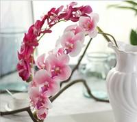 10PCS/ 11 head handle gluing Phalaenopsis flower simulation Home Furnishing European decorative plant simulation